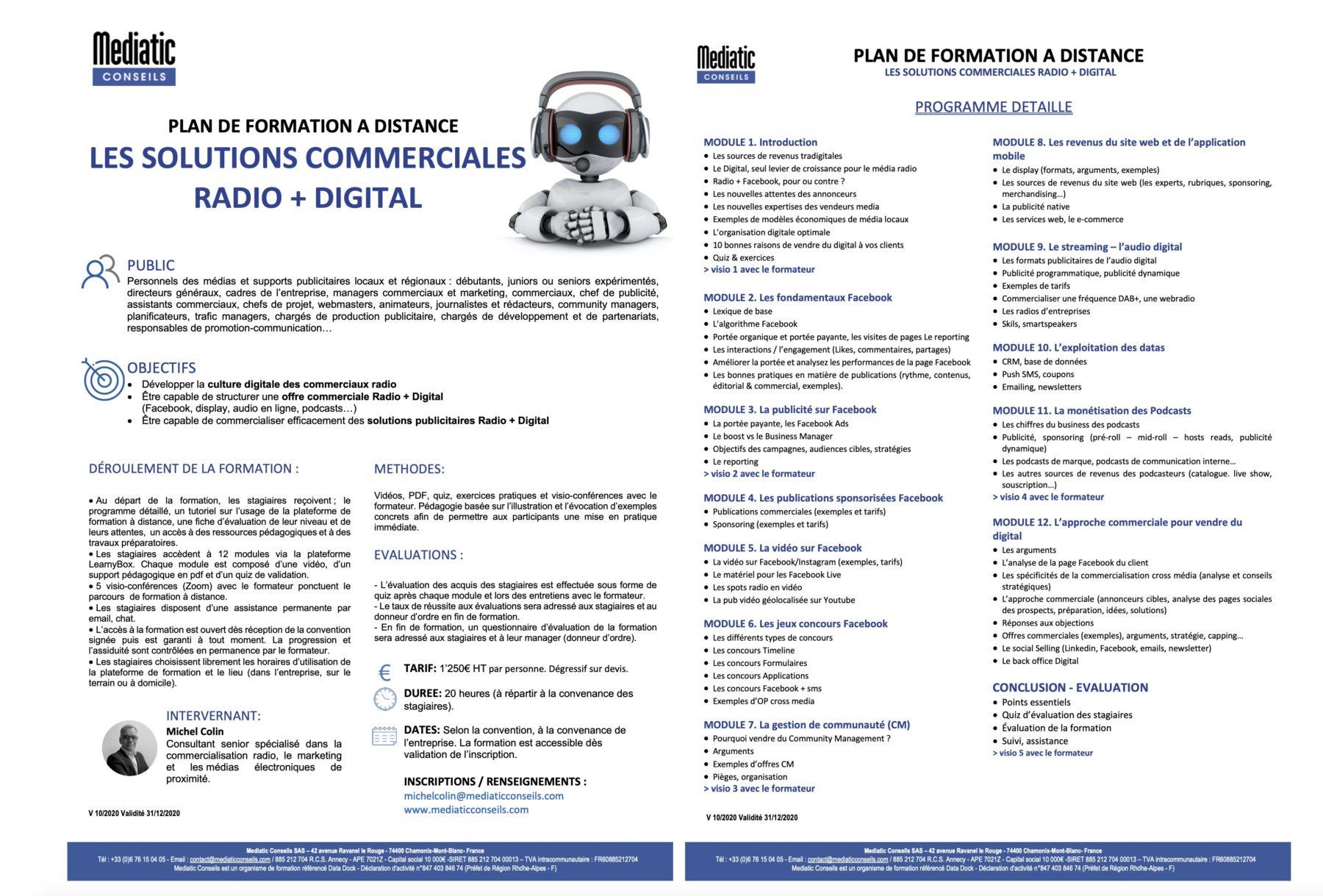 formation radio digital