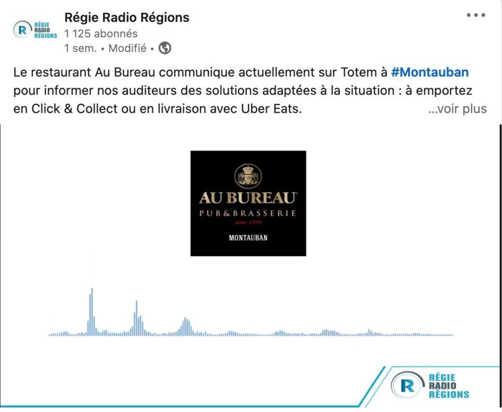 Linkedin Régie Radio Régions
