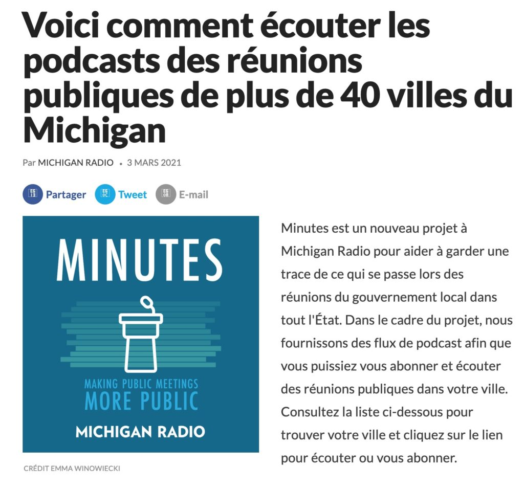 Michigan radio podcasts